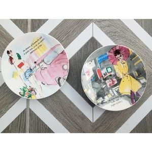New! Kate Spade Lenox Grand Tour Dessert Plates
